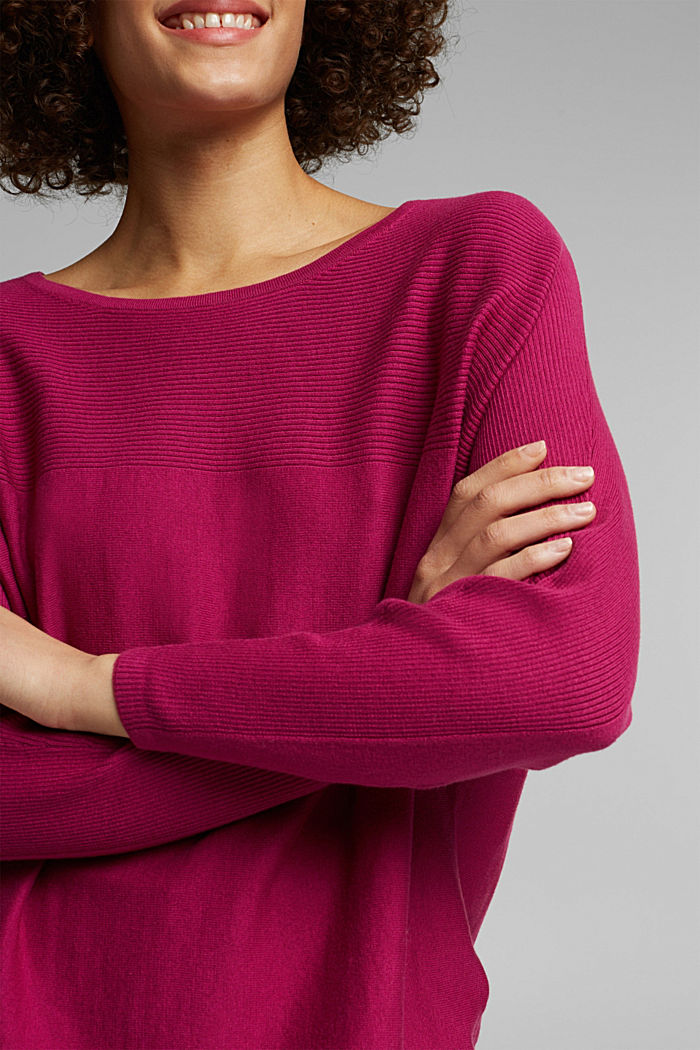 Jumper made of 100% organic cotton, DARK PINK, detail image number 2