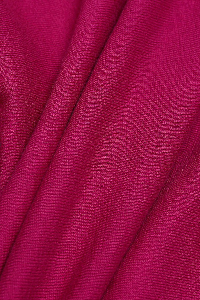 Jumper made of 100% organic cotton, DARK PINK, detail image number 4