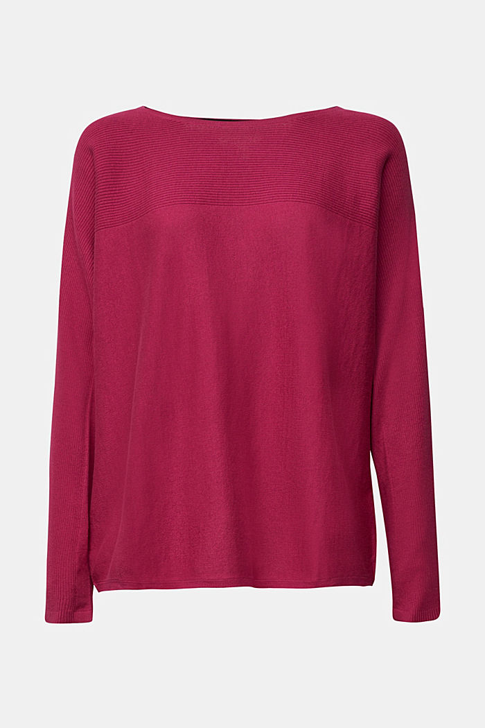 Jumper made of 100% organic cotton, DARK PINK, detail image number 6