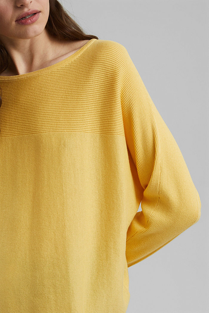 Jumper made of 100% organic cotton, SUNFLOWER YELLOW, detail image number 2