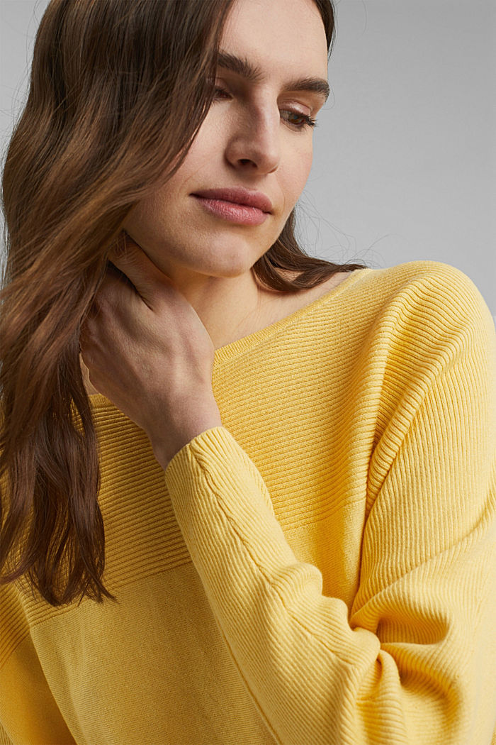 Jumper made of 100% organic cotton, SUNFLOWER YELLOW, detail image number 5