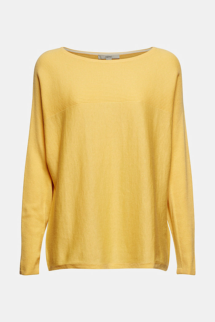 Jumper made of 100% organic cotton, SUNFLOWER YELLOW, detail image number 6