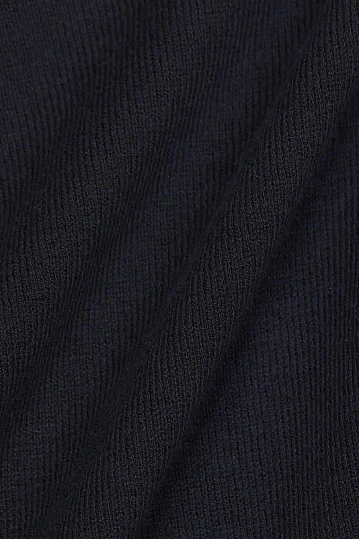 Open cardigan with organic cotton, BLACK, detail image number 4