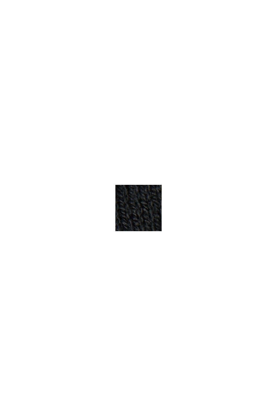 Cardigan aperto con cotone biologico, BLACK, swatch