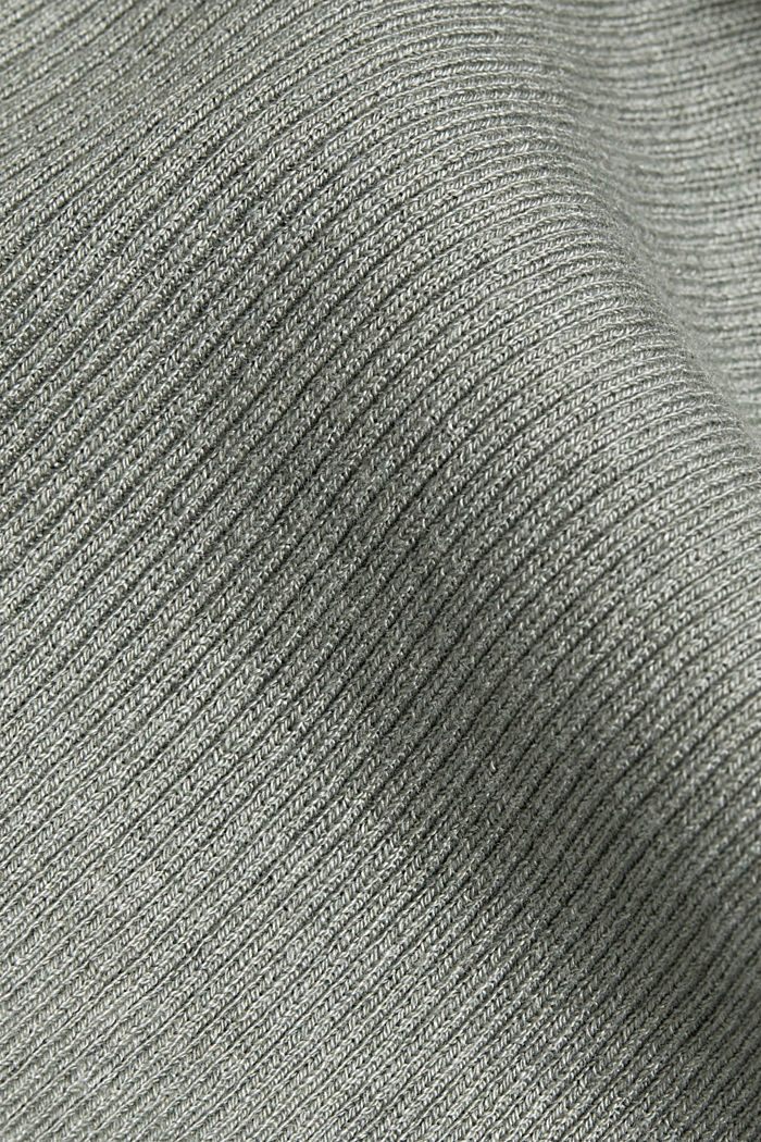 Open cardigan with organic cotton, DUSTY GREEN, detail image number 4