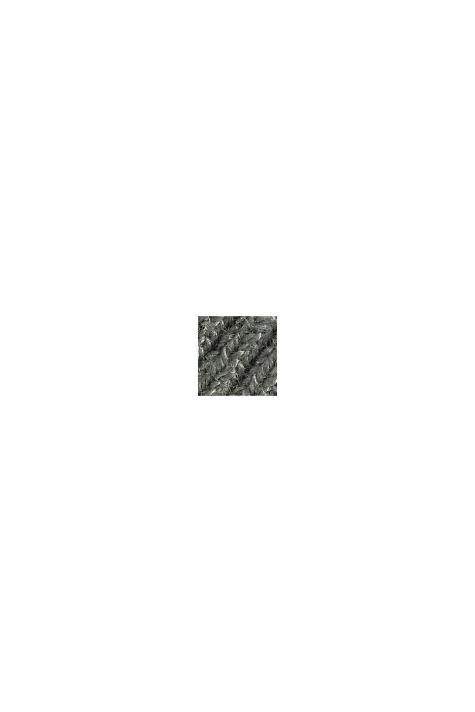 Cardigan aperto con cotone biologico, DUSTY GREEN, swatch