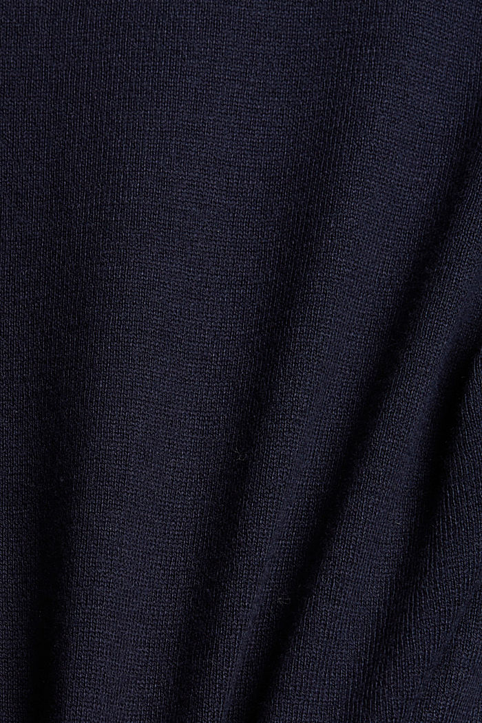 Open cardigan with organic cotton, NAVY, detail image number 4