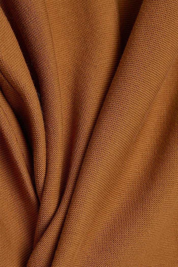 V-Neck-Pullover aus Organic Cotton, CAMEL, detail image number 4