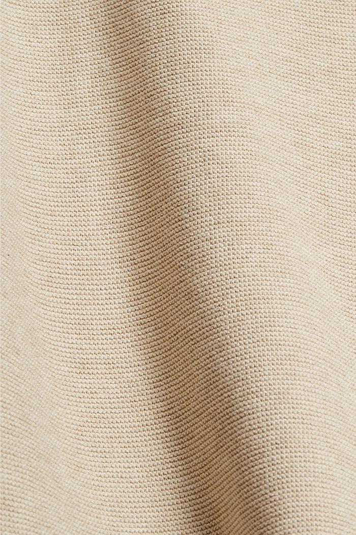 V-neck jumper made of organic cotton, SAND, detail image number 4