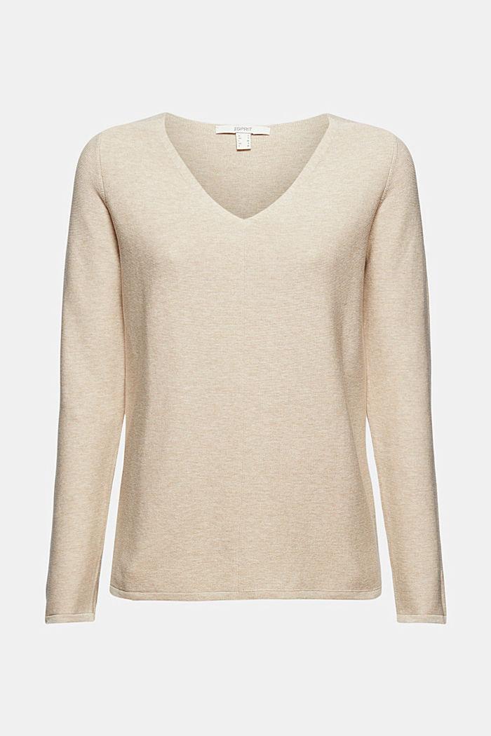 V-Neck-Pullover aus Organic Cotton