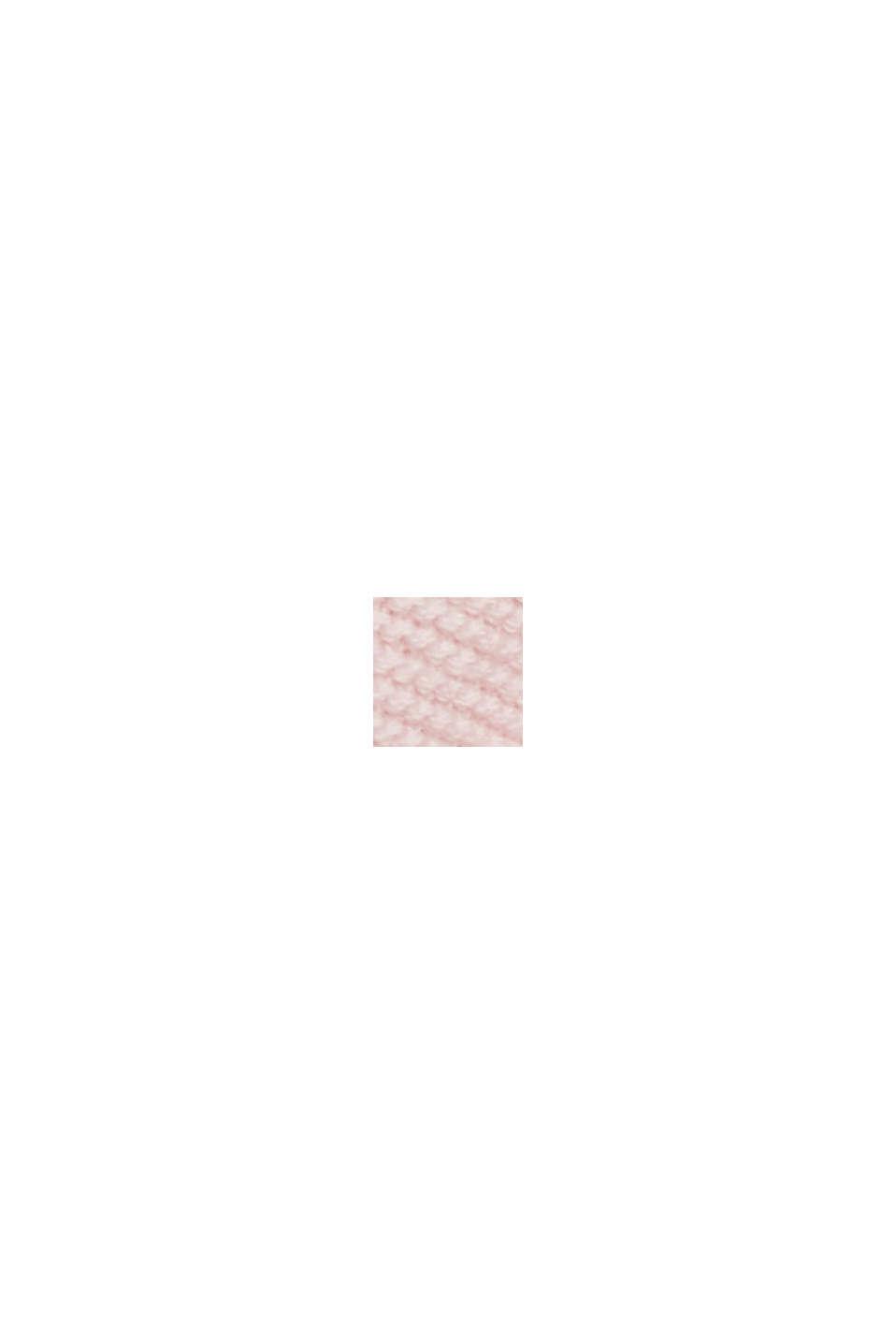 V-Neck-Pullover aus Organic Cotton, LIGHT PINK, swatch