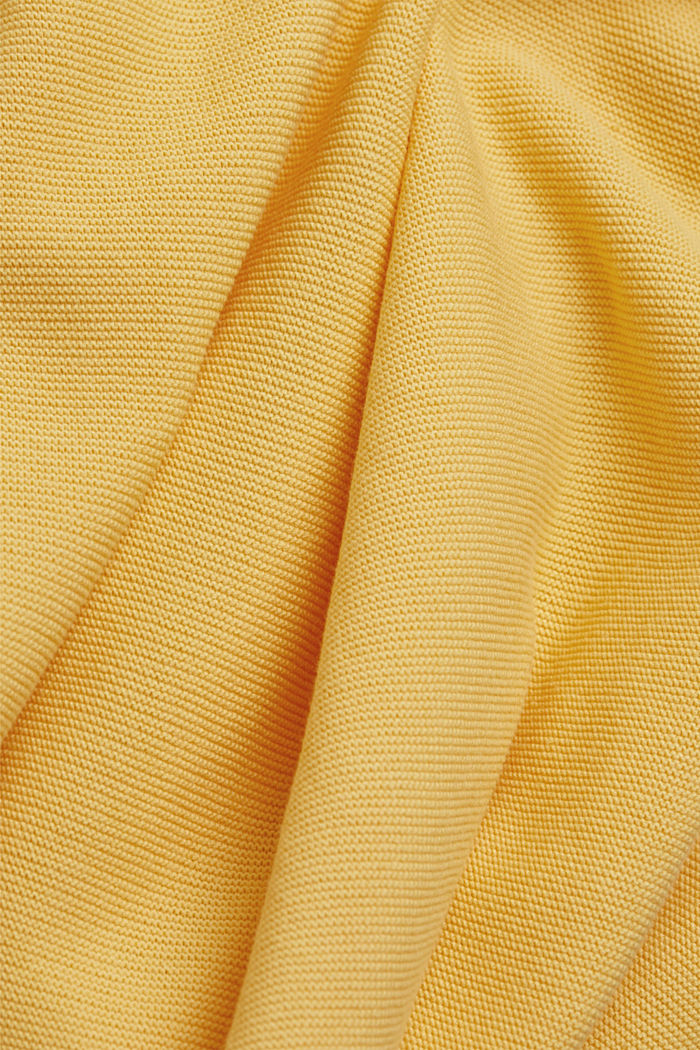 V-neck jumper made of organic cotton, SUNFLOWER YELLOW, detail image number 4