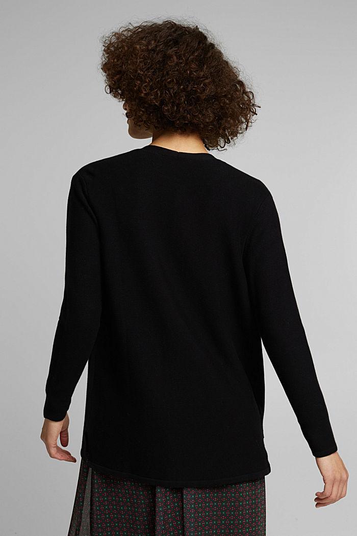 Cardigan made of 100% organic cotton, BLACK, detail image number 3