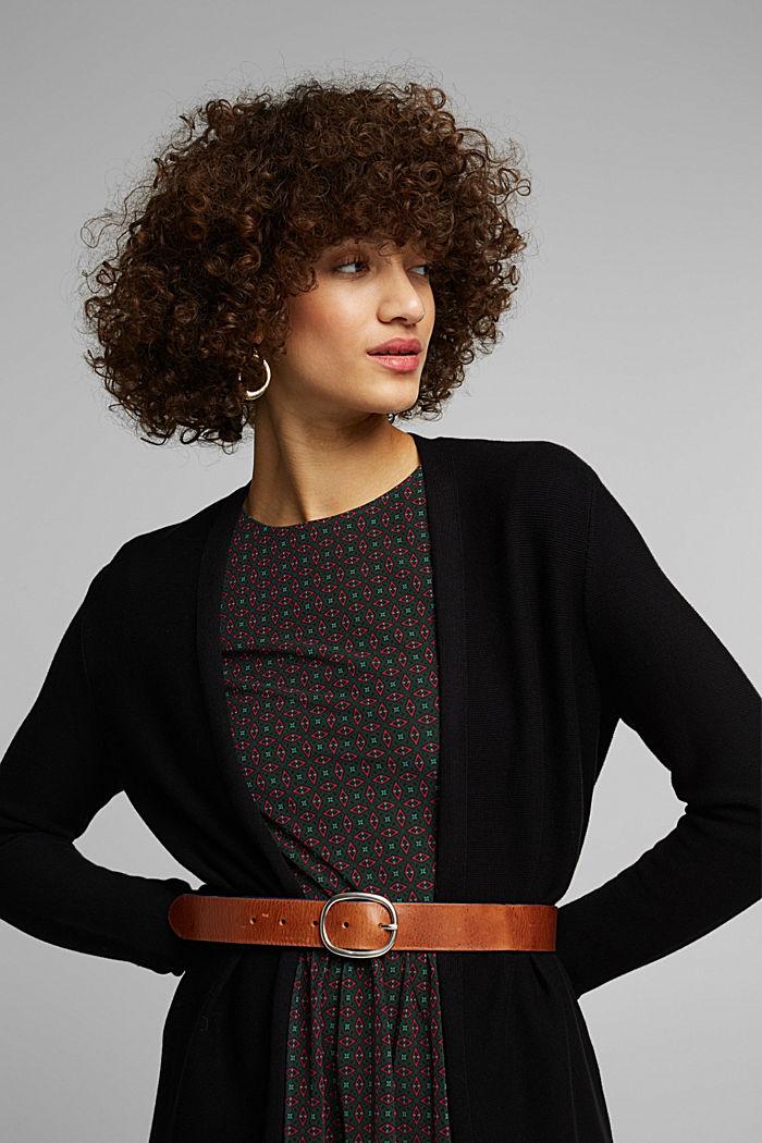 Cardigan made of 100% organic cotton, BLACK, detail image number 5
