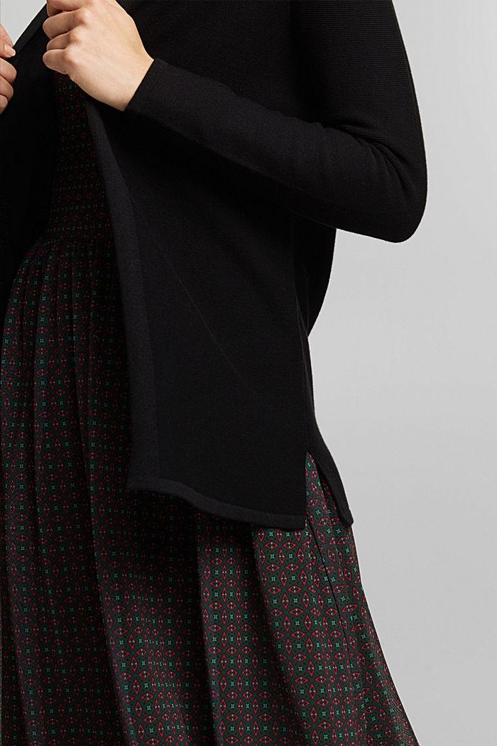 Cardigan made of 100% organic cotton, BLACK, detail image number 2