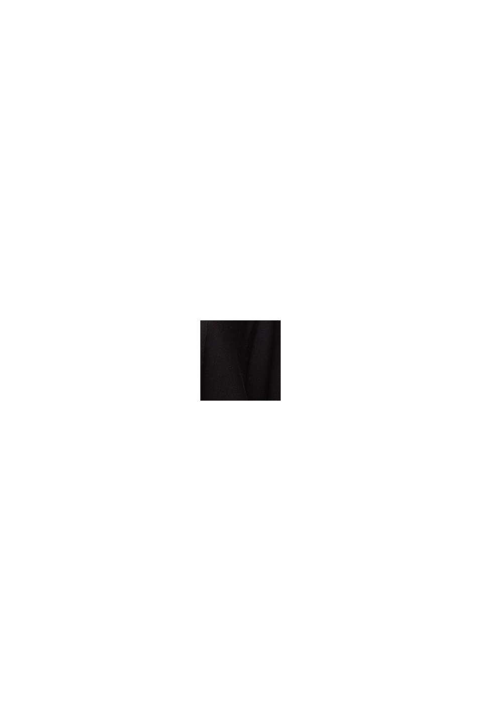 Cardigan made of 100% organic cotton, BLACK, swatch