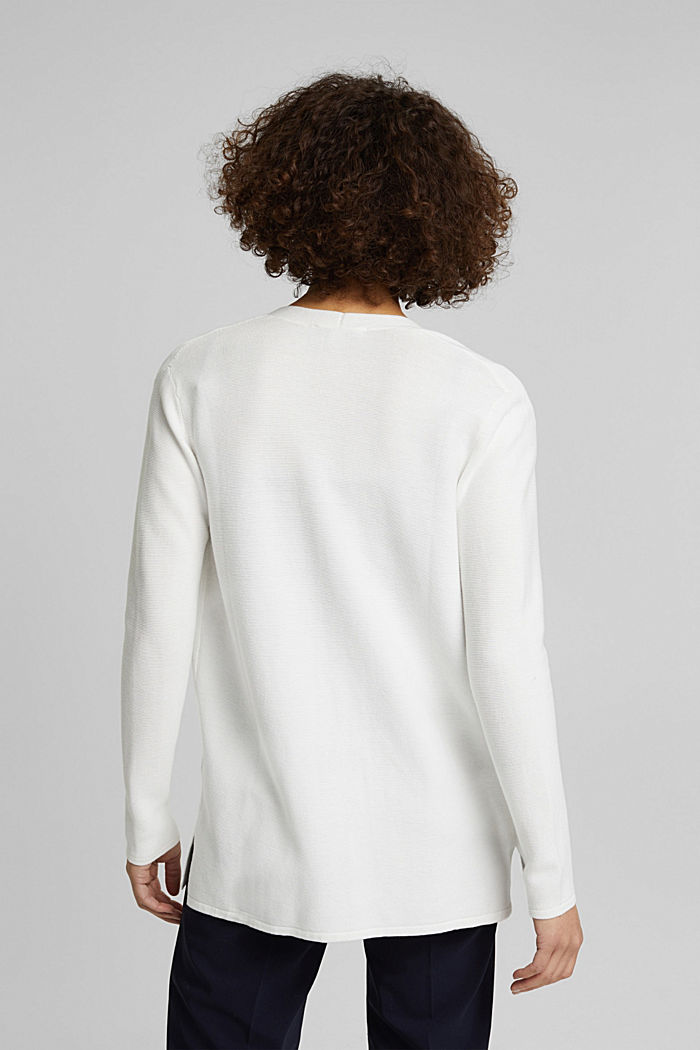 Cardigan made of 100% organic cotton, OFF WHITE, detail image number 3