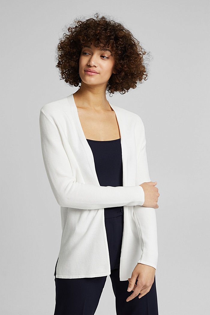 Cardigan made of 100% organic cotton, OFF WHITE, detail image number 4