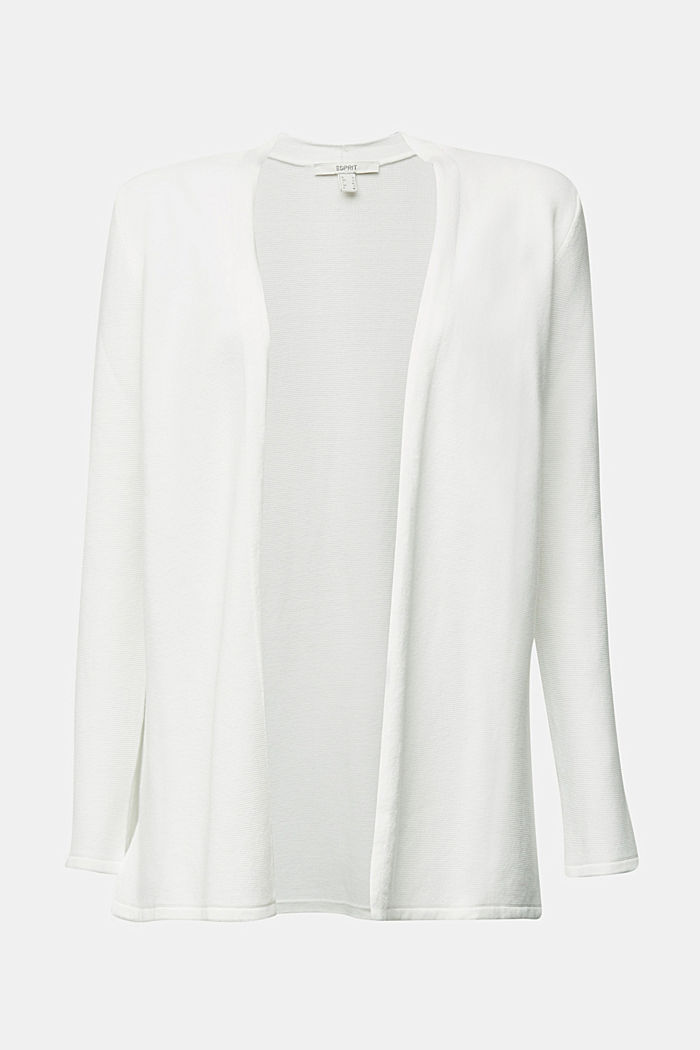 Cardigan made of 100% organic cotton, OFF WHITE, detail image number 5