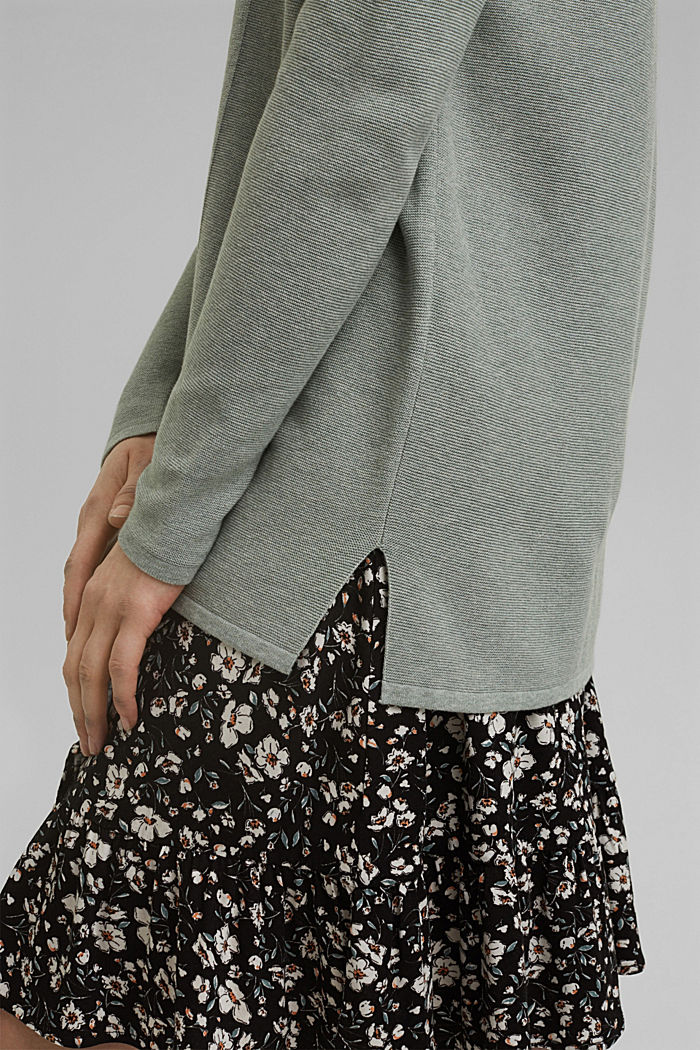 Cardigan aus 100% Organic Cotton, DUSTY GREEN, detail image number 2