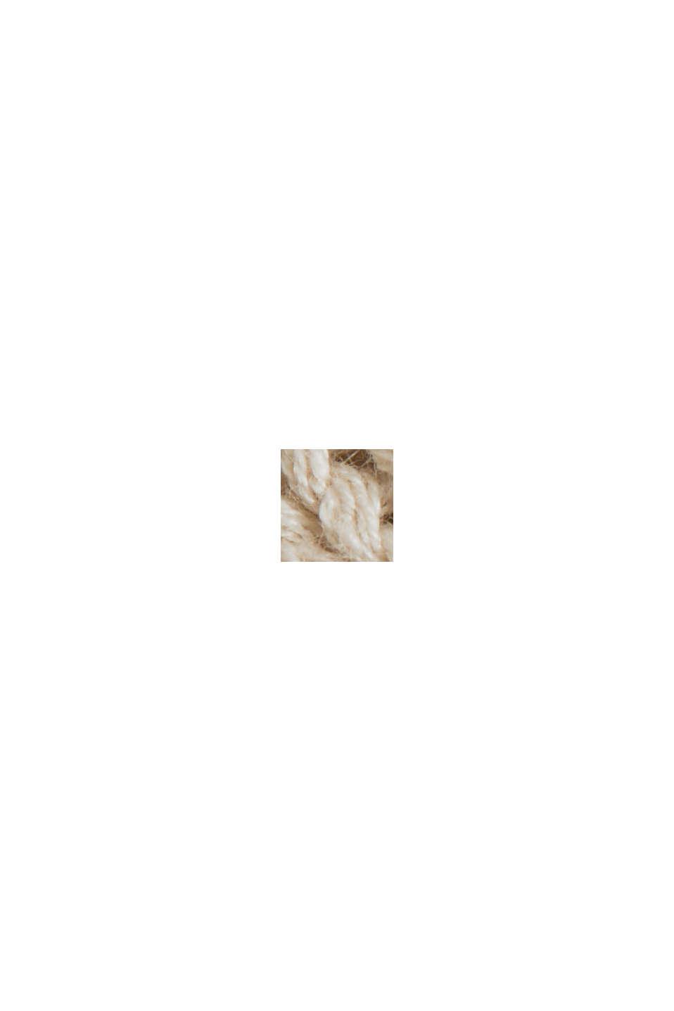 Linen blend: boxy openwork jumper, SAND, swatch