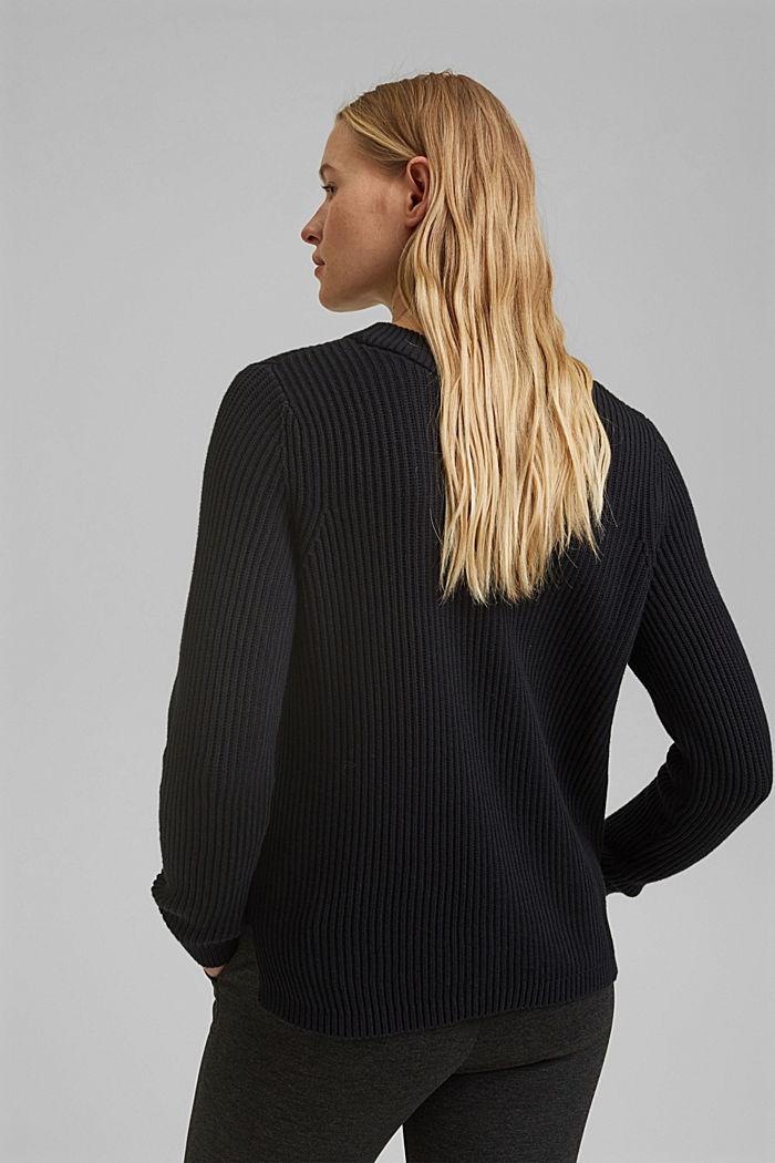 Pullover mit Struktur, 100% Bio-Baumwolle, BLACK, detail image number 3