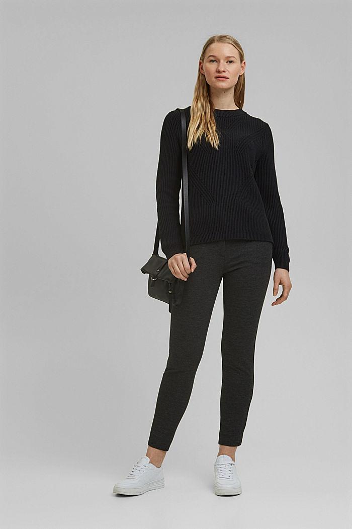 Pullover mit Struktur, 100% Bio-Baumwolle, BLACK, detail image number 1