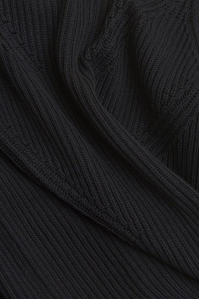 Pullover mit Struktur, 100% Bio-Baumwolle, BLACK, detail image number 4
