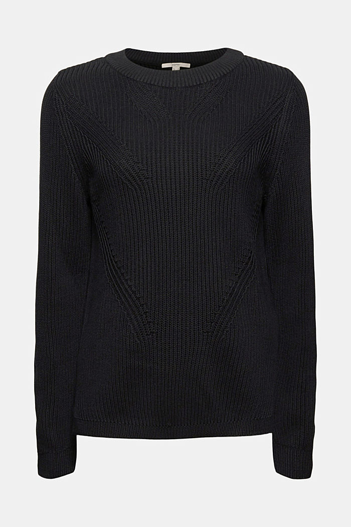 Textured jumper, 100% organic cotton