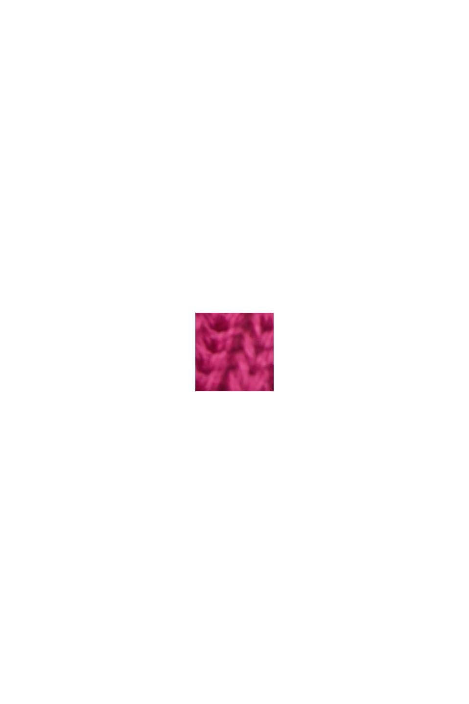 Pullover mit Struktur, 100% Bio-Baumwolle, DARK PINK, swatch