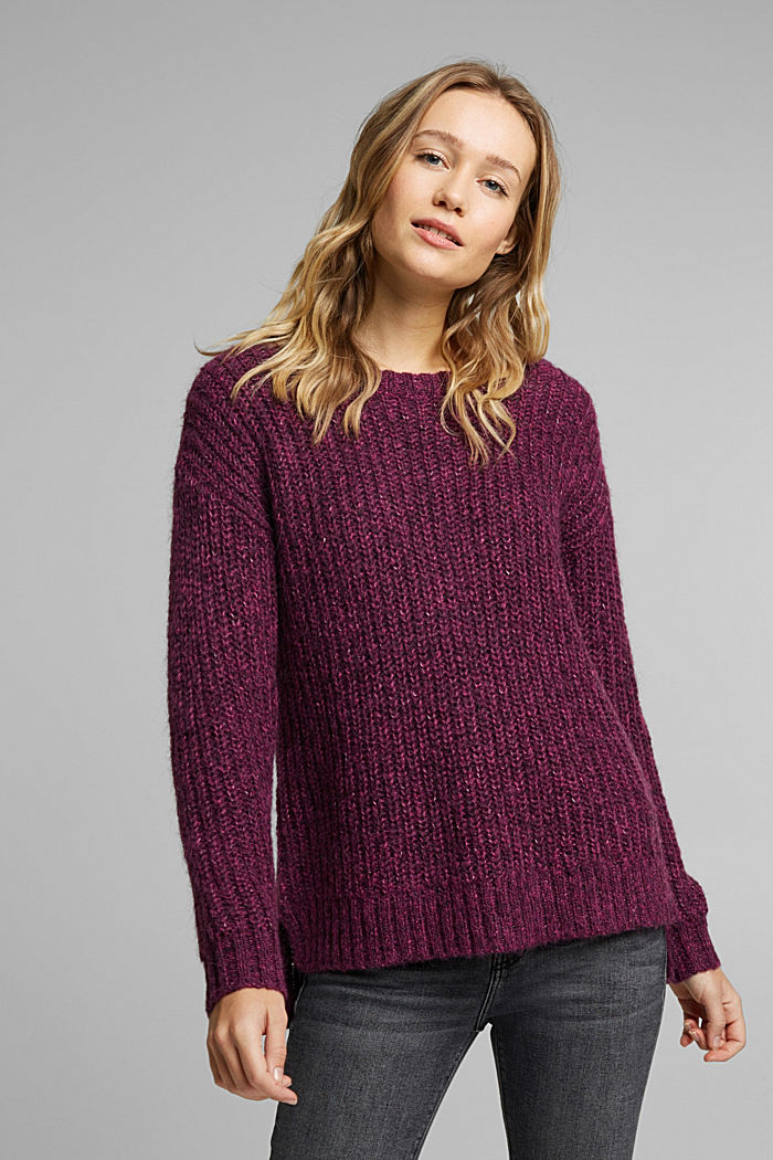 Recycled: ribbed jumper with alpaca
