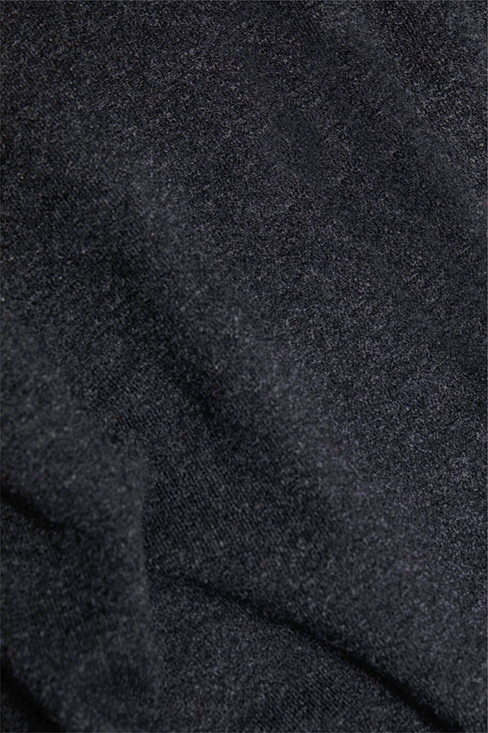 Mit Wolle: Pullover mit Organic Cotton, ANTHRACITE, detail image number 4