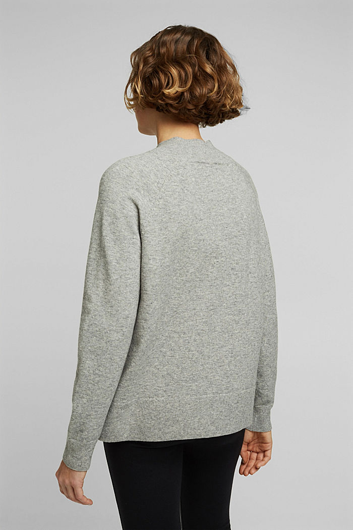 Jumper with wool and organic cotton, MEDIUM GREY, detail image number 3