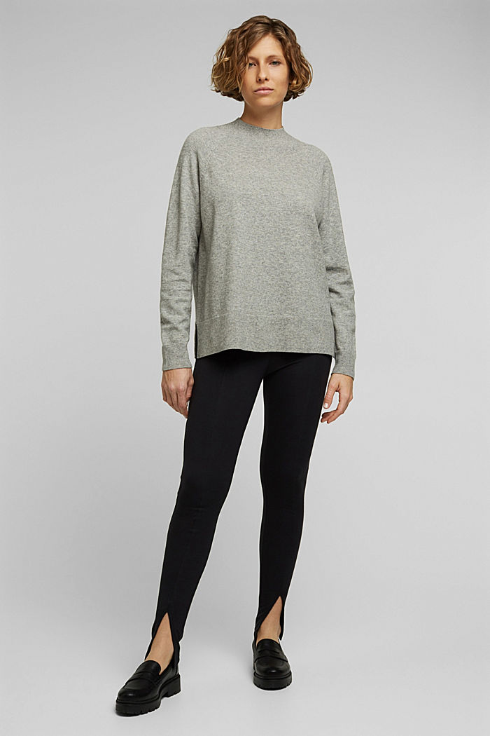 Jumper with wool and organic cotton