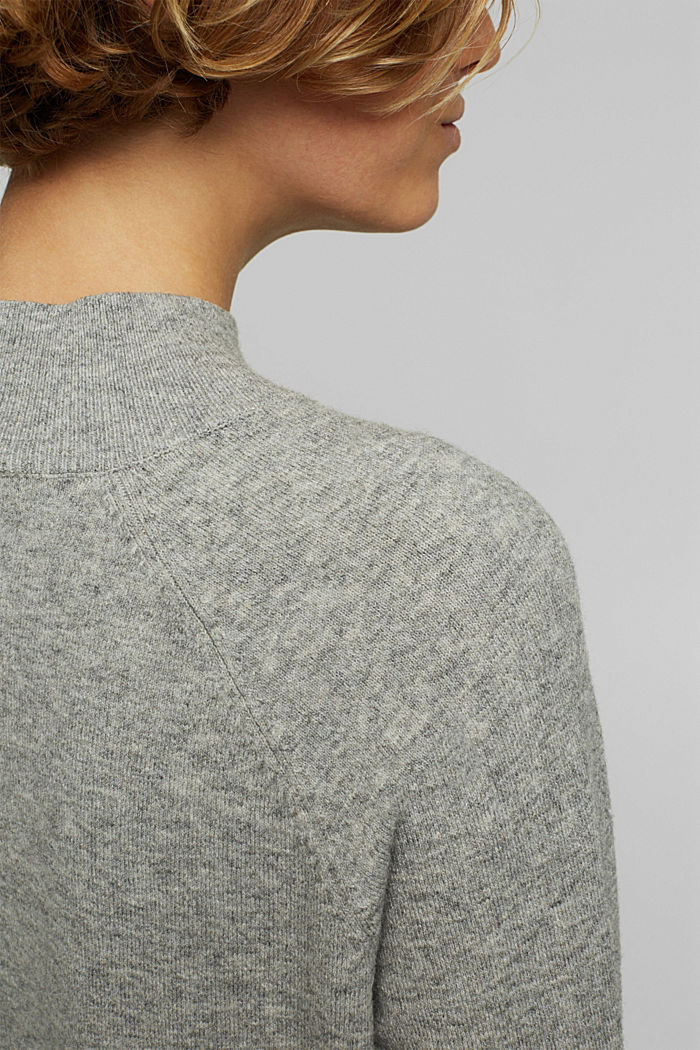Jumper with wool and organic cotton, MEDIUM GREY, detail image number 2