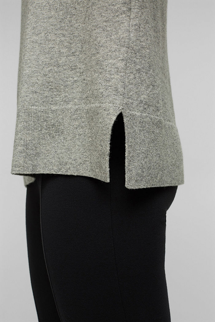 Jumper with wool and organic cotton, MEDIUM GREY, detail image number 4