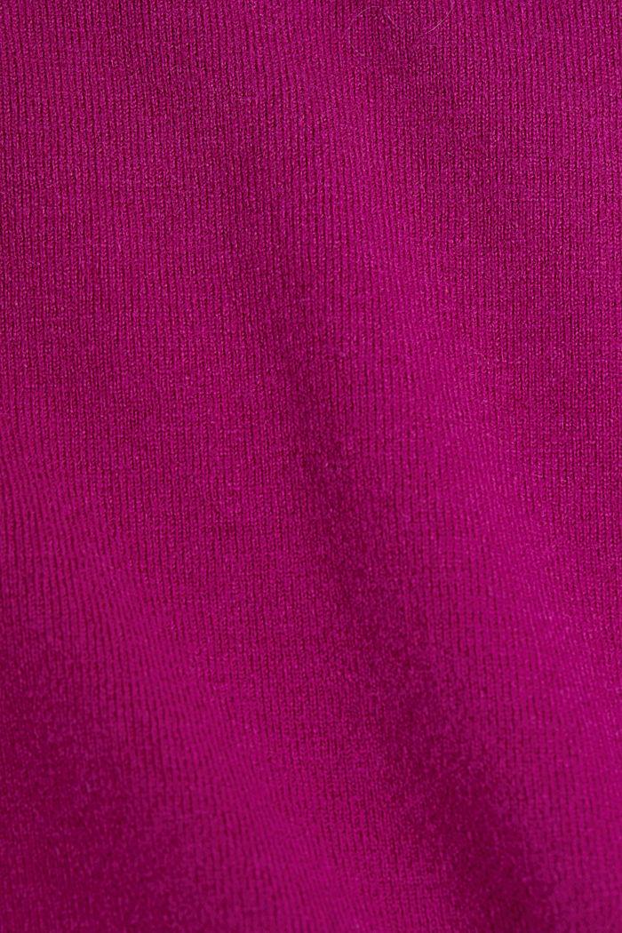 Mit Wolle: Pullover mit Organic Cotton, DARK PINK, detail image number 4