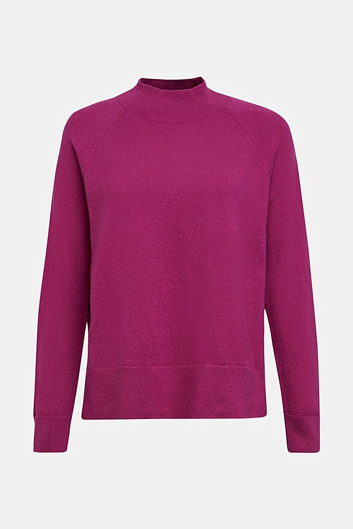 Mit Wolle: Pullover mit Organic Cotton, DARK PINK, detail image number 6