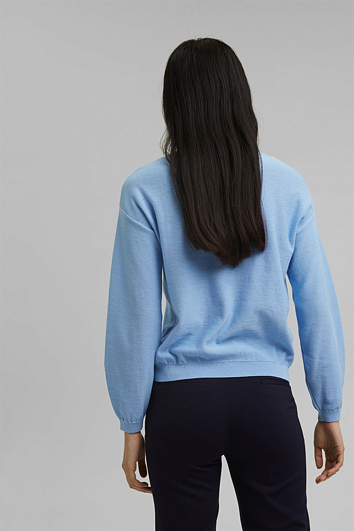 Crewneck jumper made of 100% cotton, PASTEL BLUE, detail image number 3