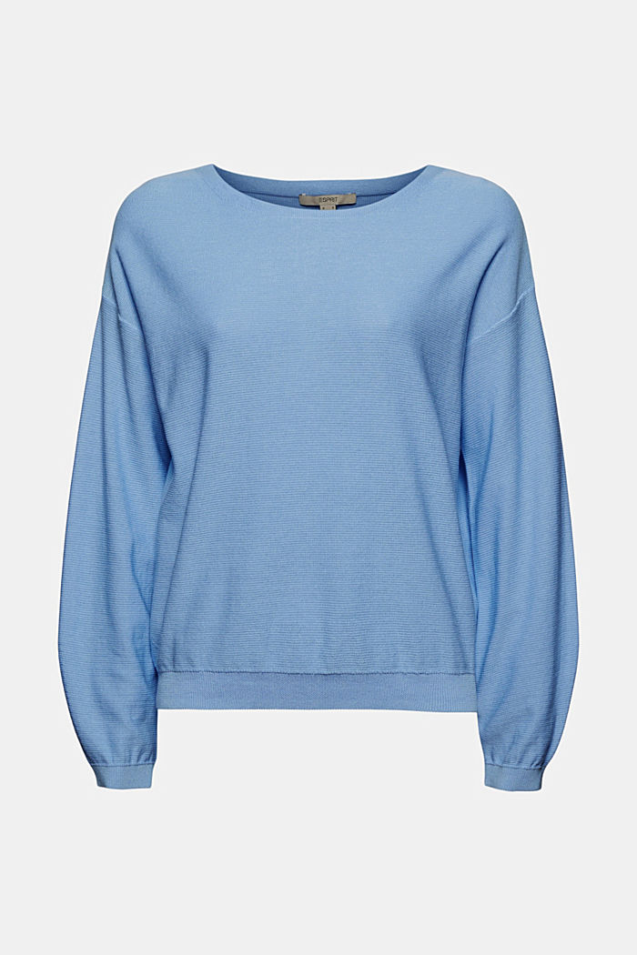 Crewneck jumper made of 100% cotton, PASTEL BLUE, detail image number 6