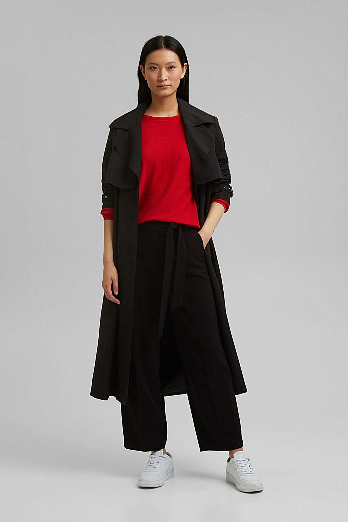 Crewneck jumper made of 100% cotton, RED, detail image number 1