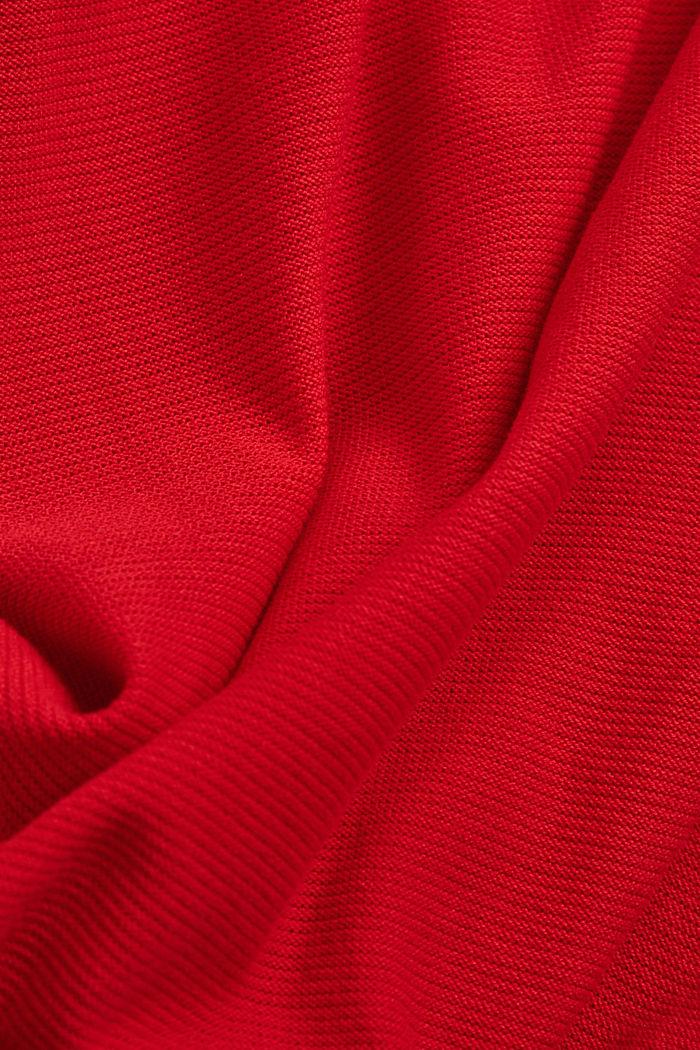Crewneck jumper made of 100% cotton, RED, detail image number 4