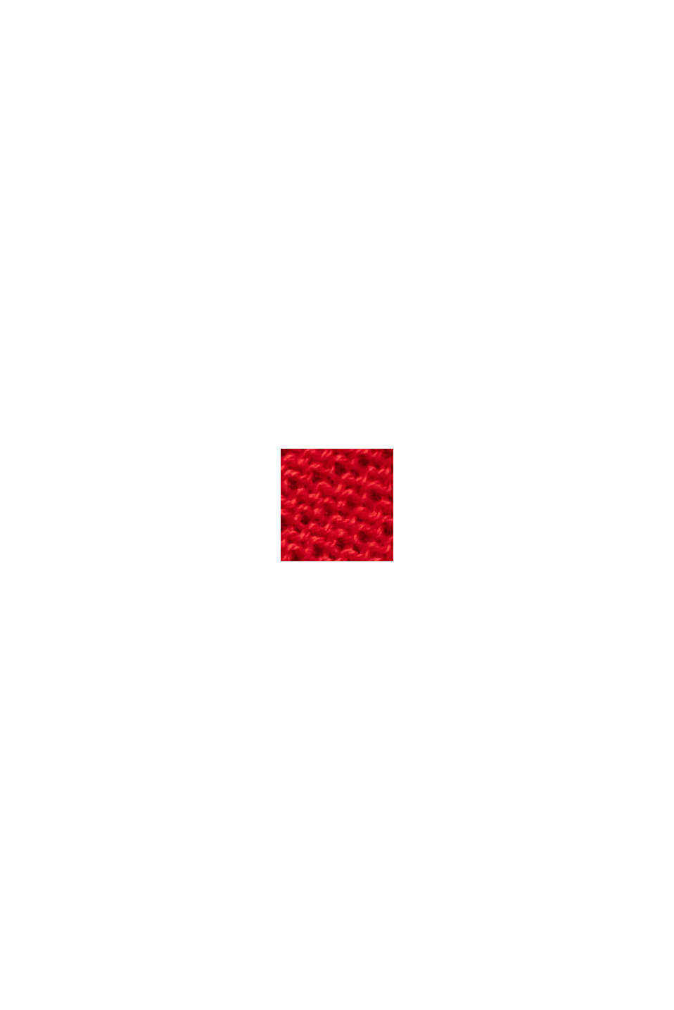 Trui met ronde hals van 100% biologisch katoen, RED, swatch