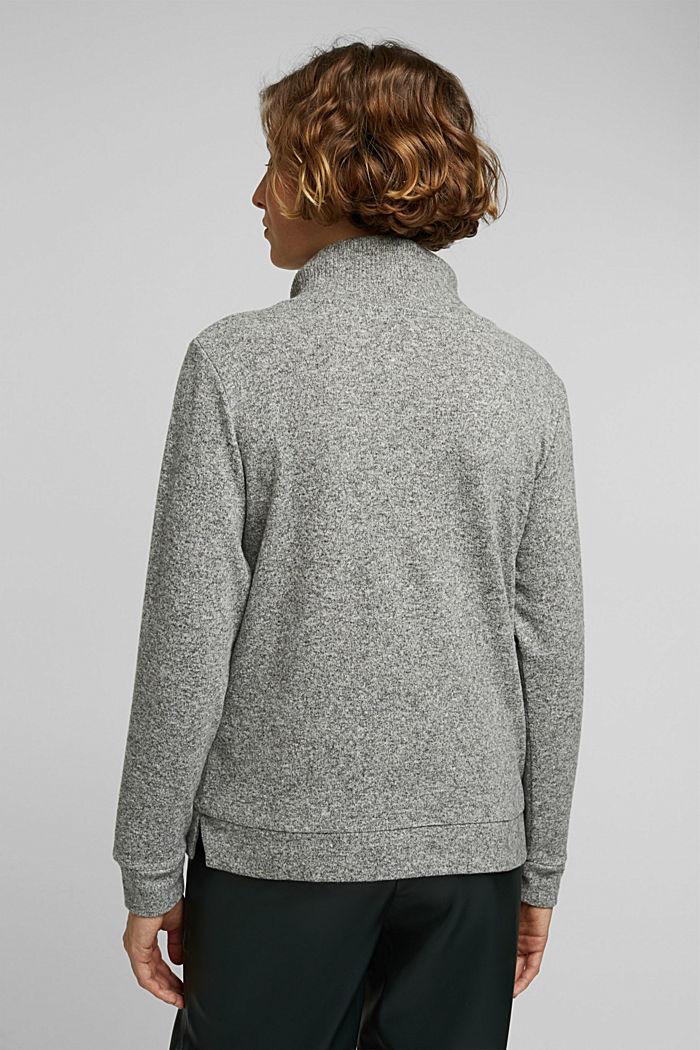 Knitted sweatshirt, GUNMETAL, detail image number 3