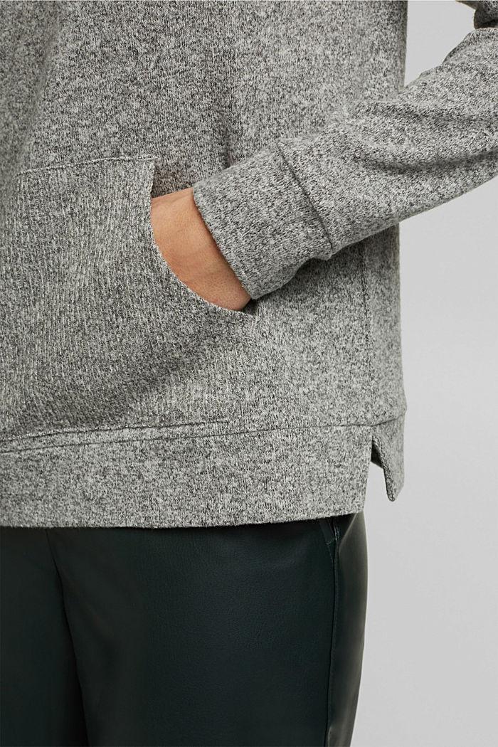 Knitted sweatshirt, GUNMETAL, detail image number 5