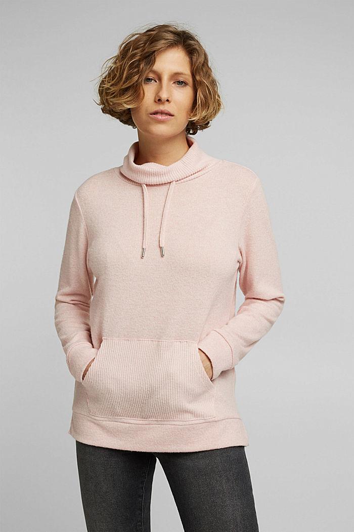 Knitted sweatshirt, NUDE, detail image number 0