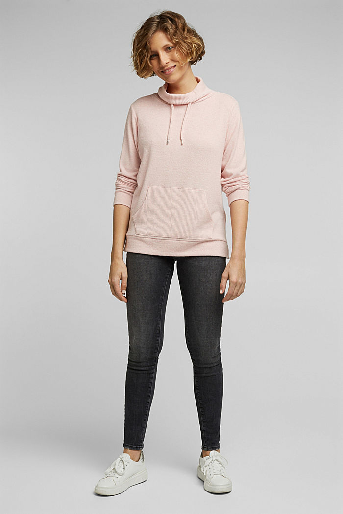 Knitted sweatshirt, NUDE, detail image number 1