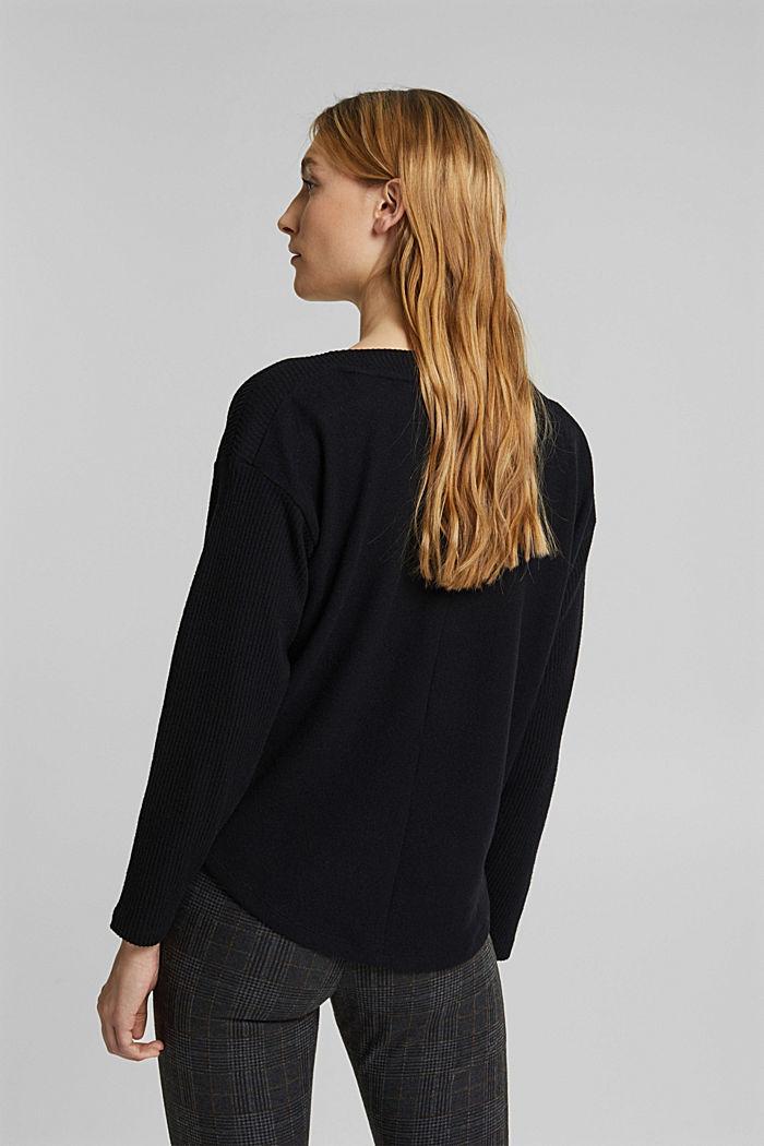 Sweatshirt met wikkeldetail, BLACK, detail image number 3
