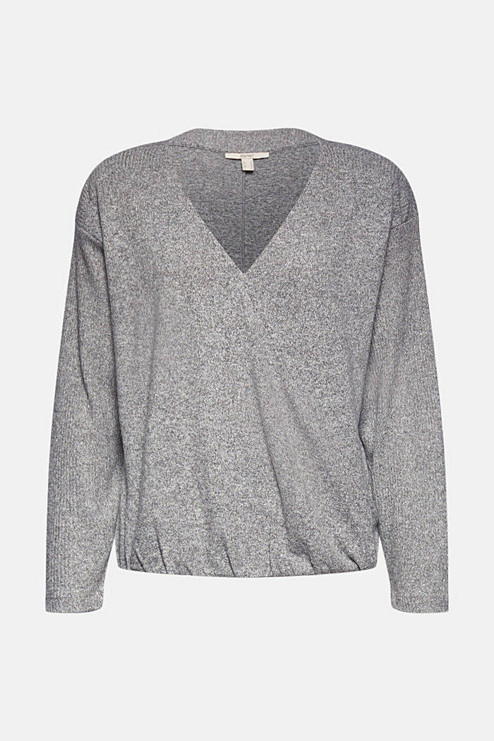 Sweatshirt with wrap detail