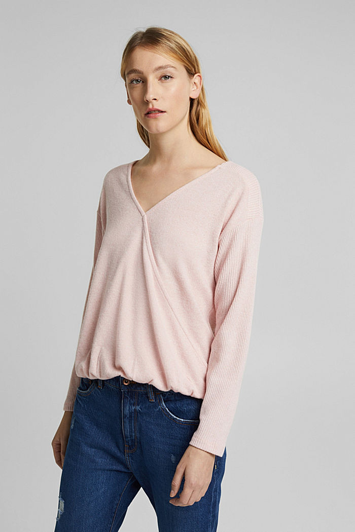 Sweatshirt with wrap detail, NUDE, detail image number 0
